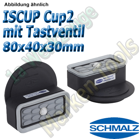 Schmalz Innospann Sauger-Cup ISCUP Cup-2 TV 80 x 40 mm Höhe 30 mm